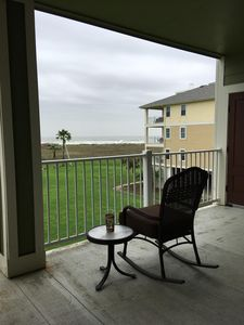 Photo for Stunning beachfront condo short walk to beach/pool