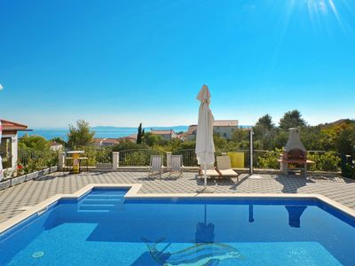 Photo for THALIA, modern apartment with pool & sea view, for 4 + 2 persons