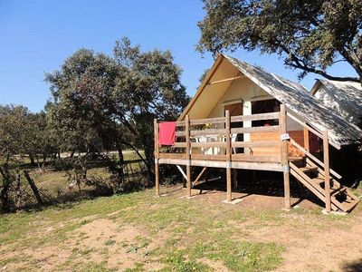Photo for Camping Domaine de Gajan **** - Bungalow Toilé 3 Rooms 4 People