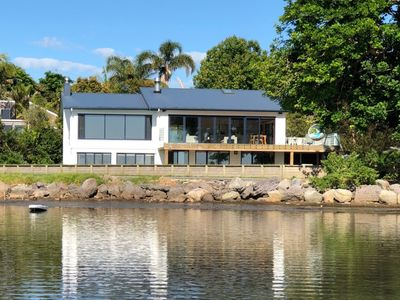 Photo for Stunning waterfront house in Omokoroa