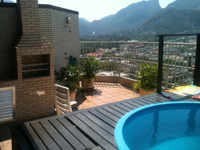Photo for Beautiful duplex penthouse with pool, barbecue and incomparable view