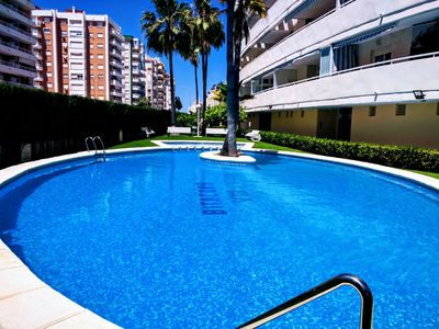 Photo for Spectacular Apartment in Playa Gandia, garage, air conditioning, Internet