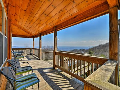 Photo for Warm & Cozy Cabin w/Deck on Top of the Blue Ridge!