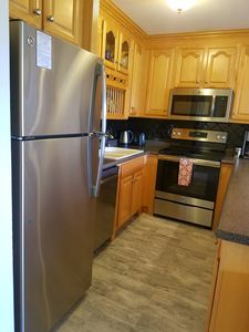 Fully equipped kitchen, all new stainless steel appliances