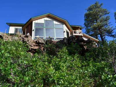 Photo for New 3 BR house on canyon ridge/Borders Forest/31 windows- just 3 miles from town