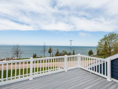 Photo for Blueberry Bluff. Stunning Lakeview Home, Tram to Association Beach, Dog Friendly