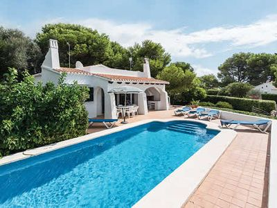 Photo for Family villa for 6 w/ free Wi-Fi & A/C, private pool & outdoor dining