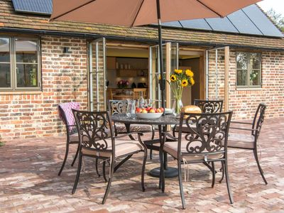 Al fresco dining is a must at this idyllic rural retreat