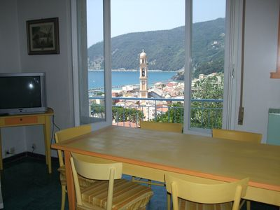 Photo for APARTMENT IN MONEGLIA SEA VIEW 4/6 PLACES BETWEEN SESTRI LEVANTE AND LE 5 TERRE