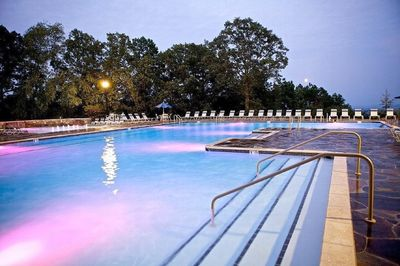 Beautiful pool across from condo at top of mountain overlooks 40,000 acre lake!