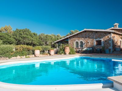 Photo for Porto Rotondo - Very exclusive villa with a private pool and surrounded by a park in elegant Porto R