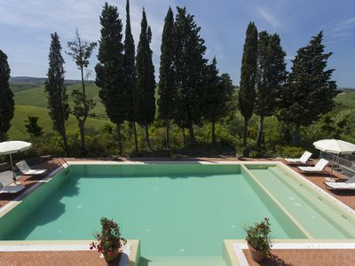 Photo for 6 bedrooms villa with private infinity pool. Near Montaione with A/C and Wi-Fi!