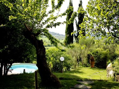 Photo for Barn with swimming pool in the beautiful Tuscan countryside