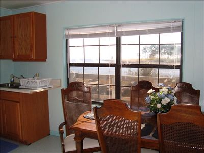 Equipped with all new Appliances..enjoy a nice veiw while dinning at the table.