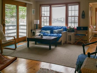 Photo for Lakefront house on over seven acres w/ private dock & beach right on the pond!