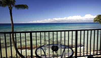 Photo for Condo w/ Complete Ocean View! Views of Lanai and Molokai! Hear the Ocean in Bed!