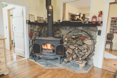Fireplace available for guest use, provided you know how to light & tend fires