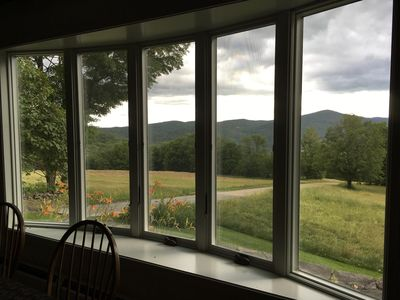Breathtaking views from the open kitchen and dining room