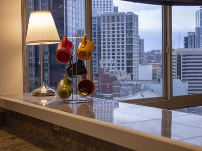 Photo for Stunning 2 Bd, 1.5 Bath Penthouse Condo with City Views