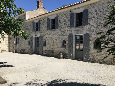 Photo for Gorgeous Old French Vendee Farmhouse, with Private Pool. Sleeps 12/14 plus cot
