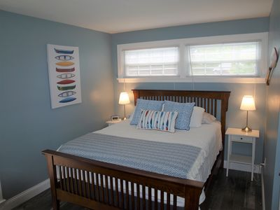 Master bedroom with new, comfortable queen sized mattress.
