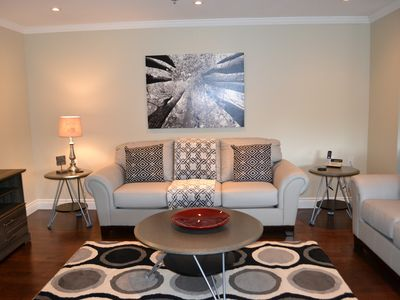 Photo for Stylish Fully Furnished 2 Bedroom Condo Close to Downtown.