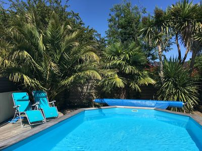 Photo for Modern , spacious detached villa ****,  private pool,  near Concarneau, 24-31/08
