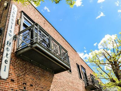 Photo for Romantic private balcony room w/fire place and downtown views