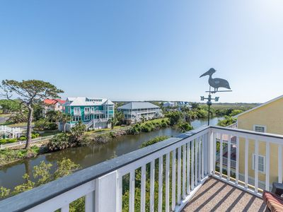 Photo for Charming home with beach access & stunning ocean & marsh views