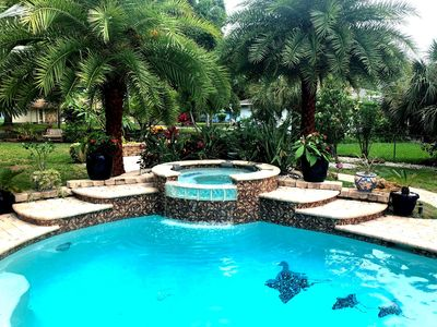 "Photo for NEW! ""Venice-Eden Lagoon House"" A  Salt Water Pool, Spa Oasis in S. Venice"