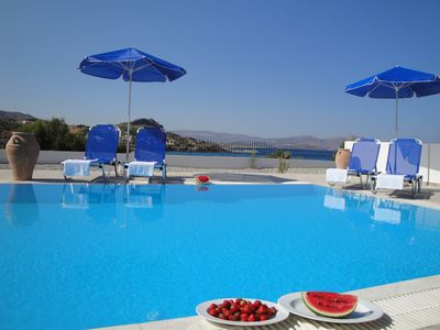 Photo for Villa with own pool, beautiful sea views, 2 minutes walk to beach