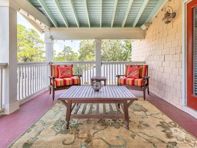 Photo for Spacious 4 BR Custom Home, Short 3 Blocks To Beach, Great Porches, Pet-Friendly