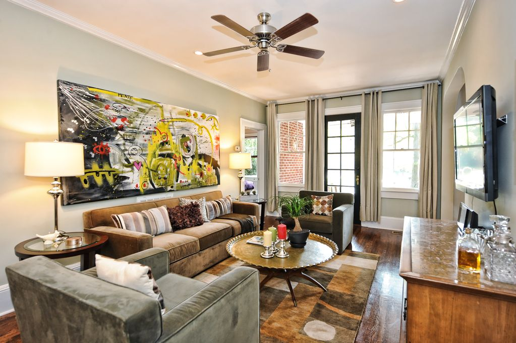 Myers Park Furnished Apartment In Charlotte 2br 1ba With Screened Porch