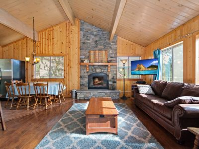 Photo for Bay View Lodge: Spectacular Lake Views! Hot Tub! Pool Table! Large Deck! Fenced Yard!