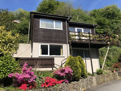 Photo for Two bed Appt. 10 minutes walk to Lynton . Riverside location. Free fishing