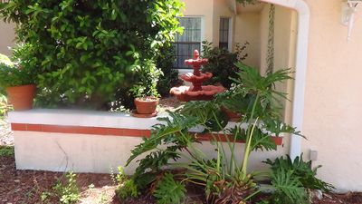 A fountain courtyard welcomes you to the Casa Grande