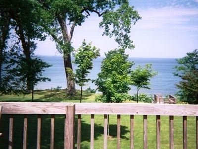 Photo for Beautiful beach front Luxury Home on Lake Michigan, sandy beach, pool, hot tub