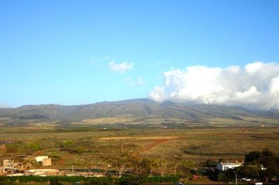 View of the Mountains from the Penthouse lanai while sipping morning coffee.