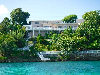 Photo for Ocean Front Villa on a protected Reef,  Pool,  Staffed,  Very Private