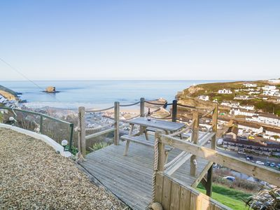 Photo for Located in Portreath with panoramic sea views from living area and bedrooms
