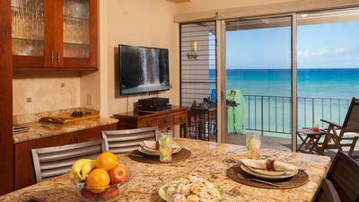 Photo for Luxury OCEAN FRONT Condo Truly 5 Star, 20 Feet From The Water At Pikake