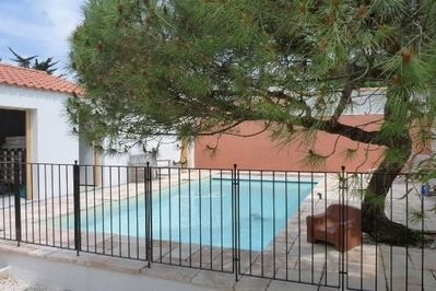 Gated swimming pool for children