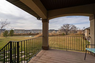Enjoy the view and Morning Breeze Overlooking the Pond and Links at Sleepy Ridge