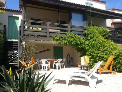 Photo for CHARMING BUNGALOW IN RESIDENCE SECURE WITH POOL, 50M FROM THE BEACH!