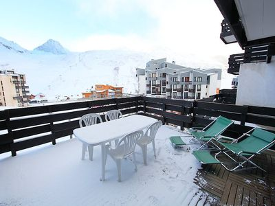 Photo for Apartment 471 m from the center of Tignes with Internet, Washing machine, Terrace (98729)