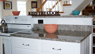 Maine Granite Countertops, Light Airy Cooking Area, Modern Appliances