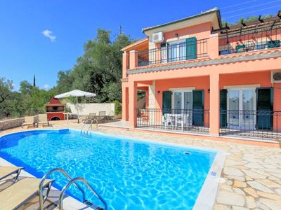 Photo for Villa Youla: Large Private Pool, Walk to Beach, Sea Views, A/C, WiFi, Car Not Required