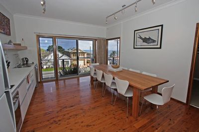 Ground floor showing 10 seater solid hardwood table