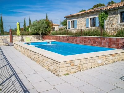 Photo for Holiday house with pool in Orgnac-l'Aven, Ardèche, for nature lovers