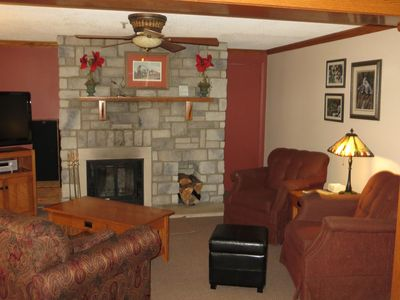 Photo for Expanded Space, 2 BR Mtn Lodge, wood burning fireplace-lockout to 1BR sleeps 10